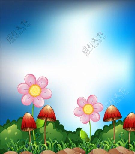 卡通植物背景