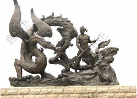 大禹治水雕塑
