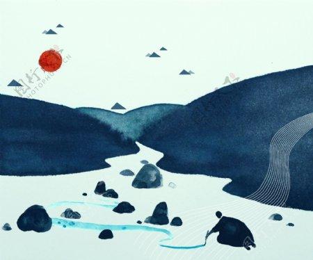 抽象山水画