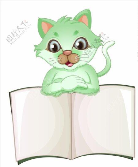 卡通猫和白板