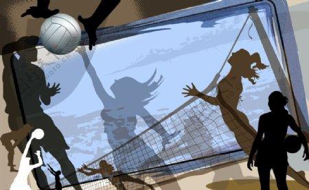 女子排球游乐场