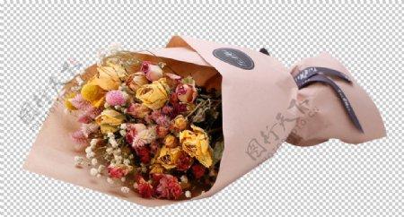 鲜花包装节日祝福海报素材
