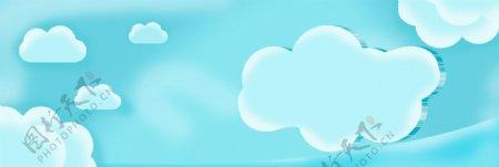蓝色云朵背景