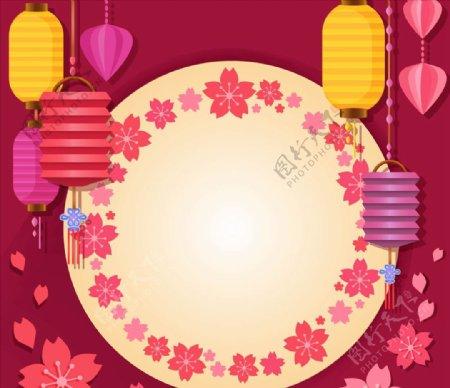 亚洲灯具和装饰