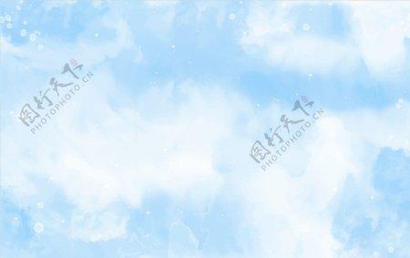 蓝色彩绘背景