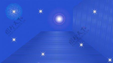 星光照射蓝色底图素材