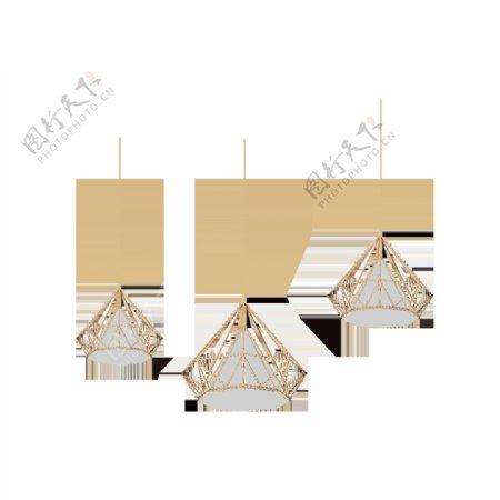 吊灯家居装饰背景海报素材