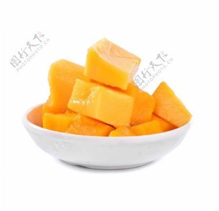 芒果肉白底摄影