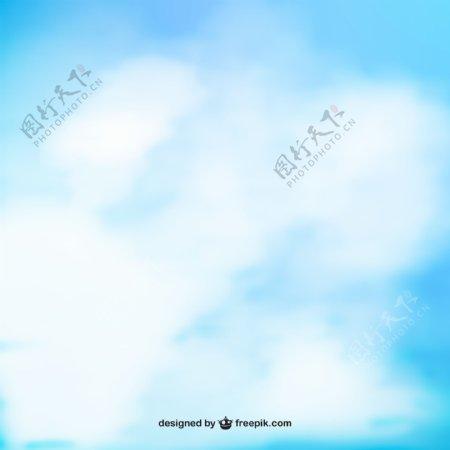 天蓝色水彩