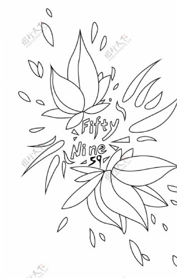 卡通漫画手绘花瓣花朵图片