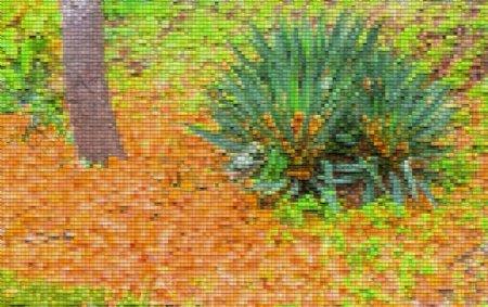 草木格子纹