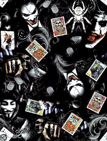 小丑手绘小丑壁纸蝙蝠侠漫