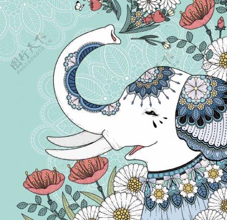大象蓝色欧美环境设计