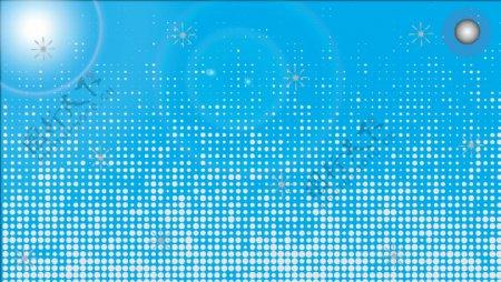 蓝色底图满天星点状科技素材