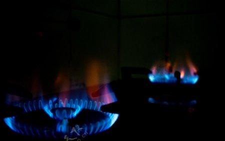 煤气液化气火焰燃烧