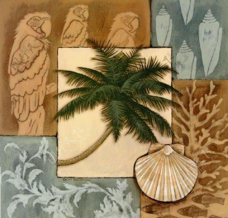 美式枫树叶装饰画