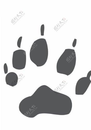 动物爪印标志图标图形素材