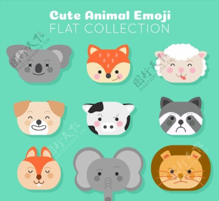 可爱动物表情头像图片