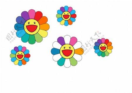 太阳花独角兽可爱图片
