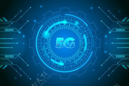 5G蓝色科技背景图片