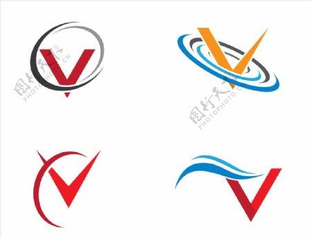 字母V图标图片
