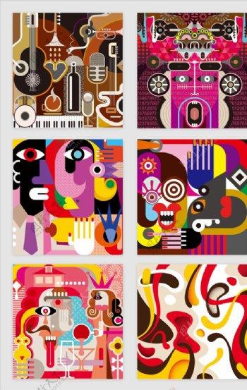 彩色抽象图案图片