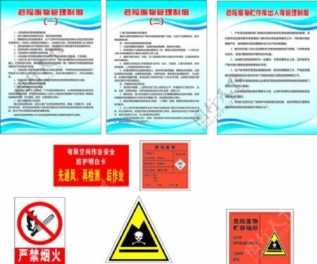 搅拌站危险牌危险废物管理制度图片