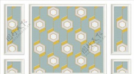 几何立体空间背景墙图片