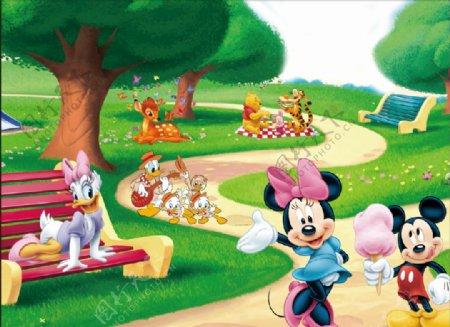 卡通米老鼠背景图片