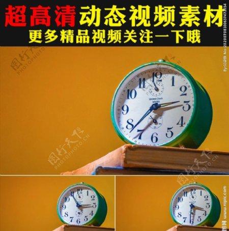 时钟闹钟指针钟表读秒视频素材