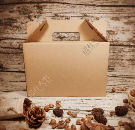 坚果礼盒榛子礼盒牛皮纸箱图片