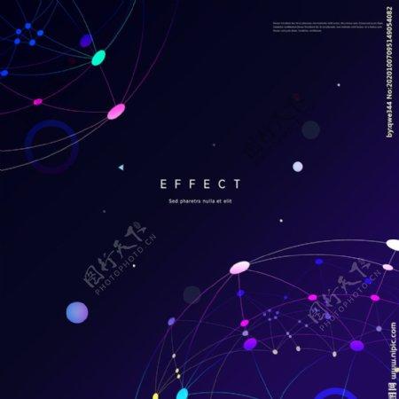 现代科技分子背景图片