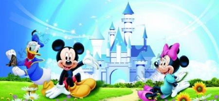 卡通迪士尼米老鼠与唐老鸭图片