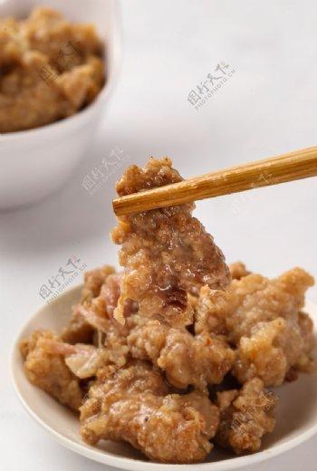 餐饮美食酥肉摄影图片