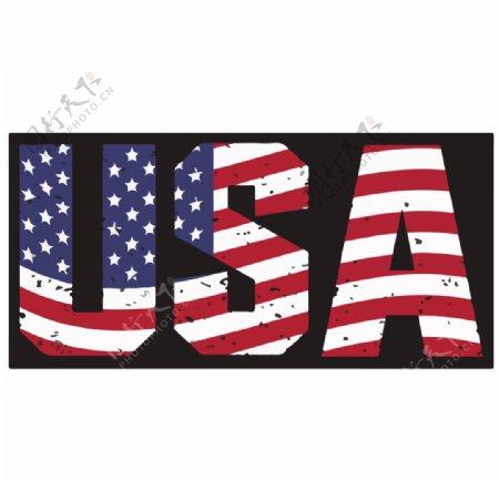 USA卡通印花图案图片