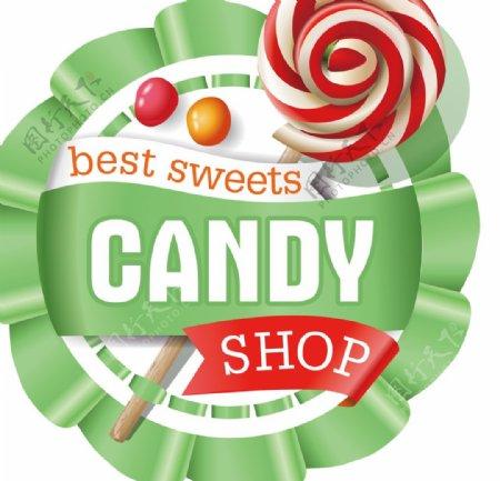 棒棒糖标签图片