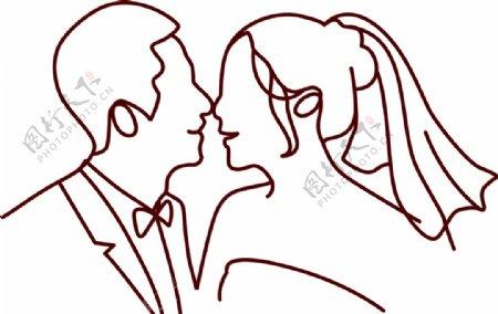婚礼人像logo图片