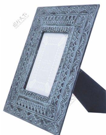 浅蓝木制相框图片
