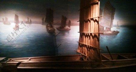 嘉定博物馆帆船场景图片