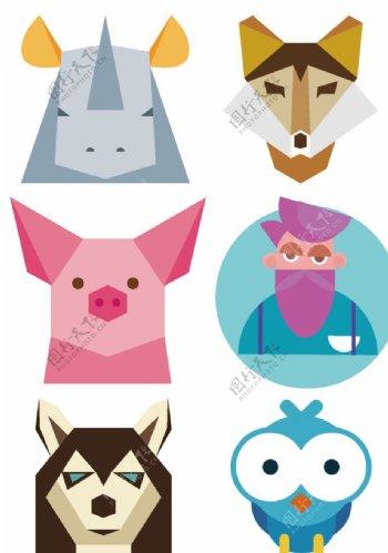 可爱卡通动物人物头像图片
