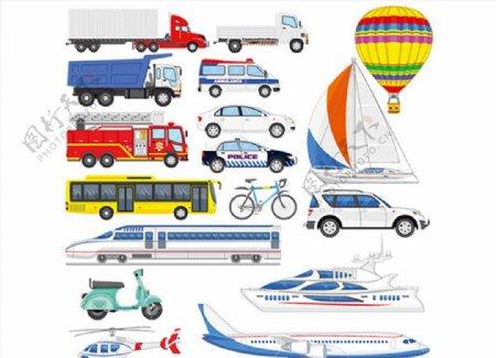 交通工具集合矢量图片