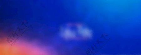 天蓝与彩云点缀图片