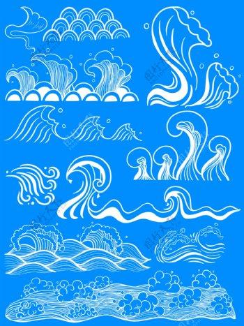 水浪水波纹浪花图片