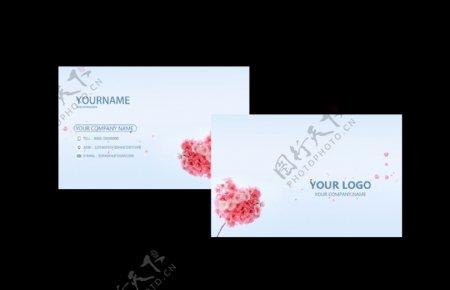 花朵花纹清新名片卡片素材图片