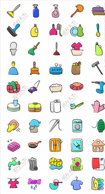 简约icon打扫图片