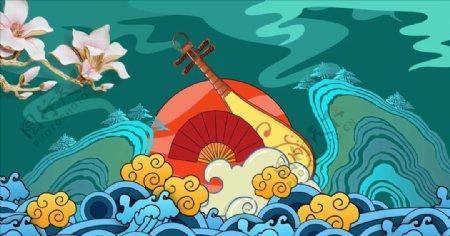 中国风背景视频