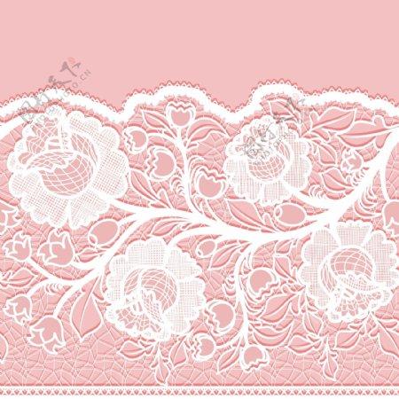 白色蕾丝花卉图片