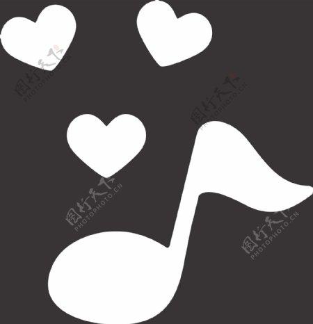 爱心音符图片
