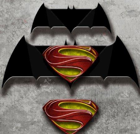 蝙蝠侠超人分层logo图片