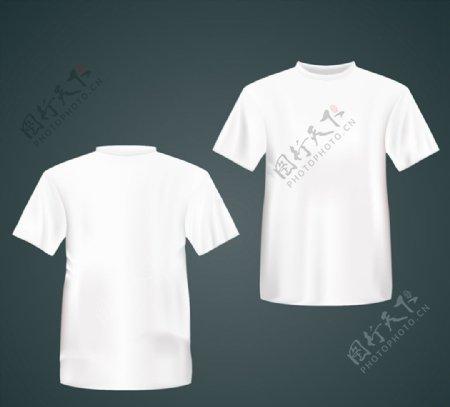 白色恤正反面图片